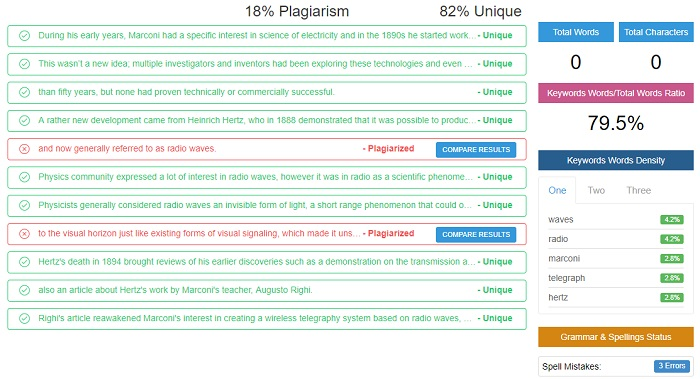 Plagiarism Software unique